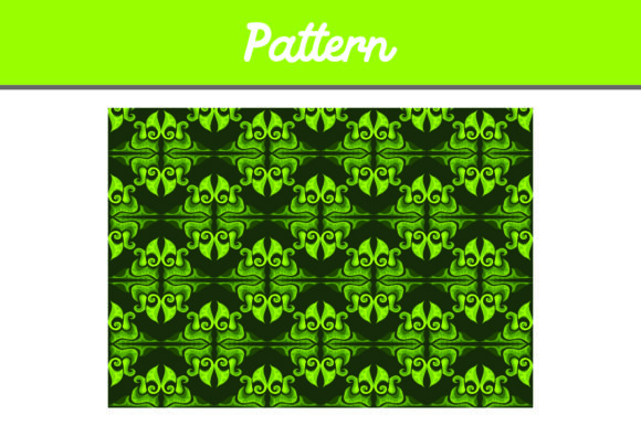 Print on Demand: Green Background Ornament Pattern Graphic Patterns By Arief Sapta Adjie II - Image 1