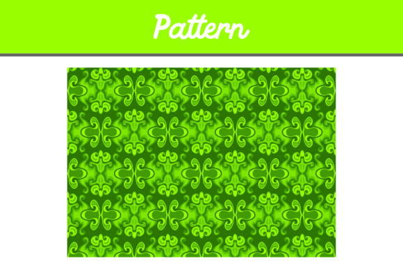 Print on Demand: Green Background Ornament Pattern Gráfico Moldes Por Arief Sapta Adjie II