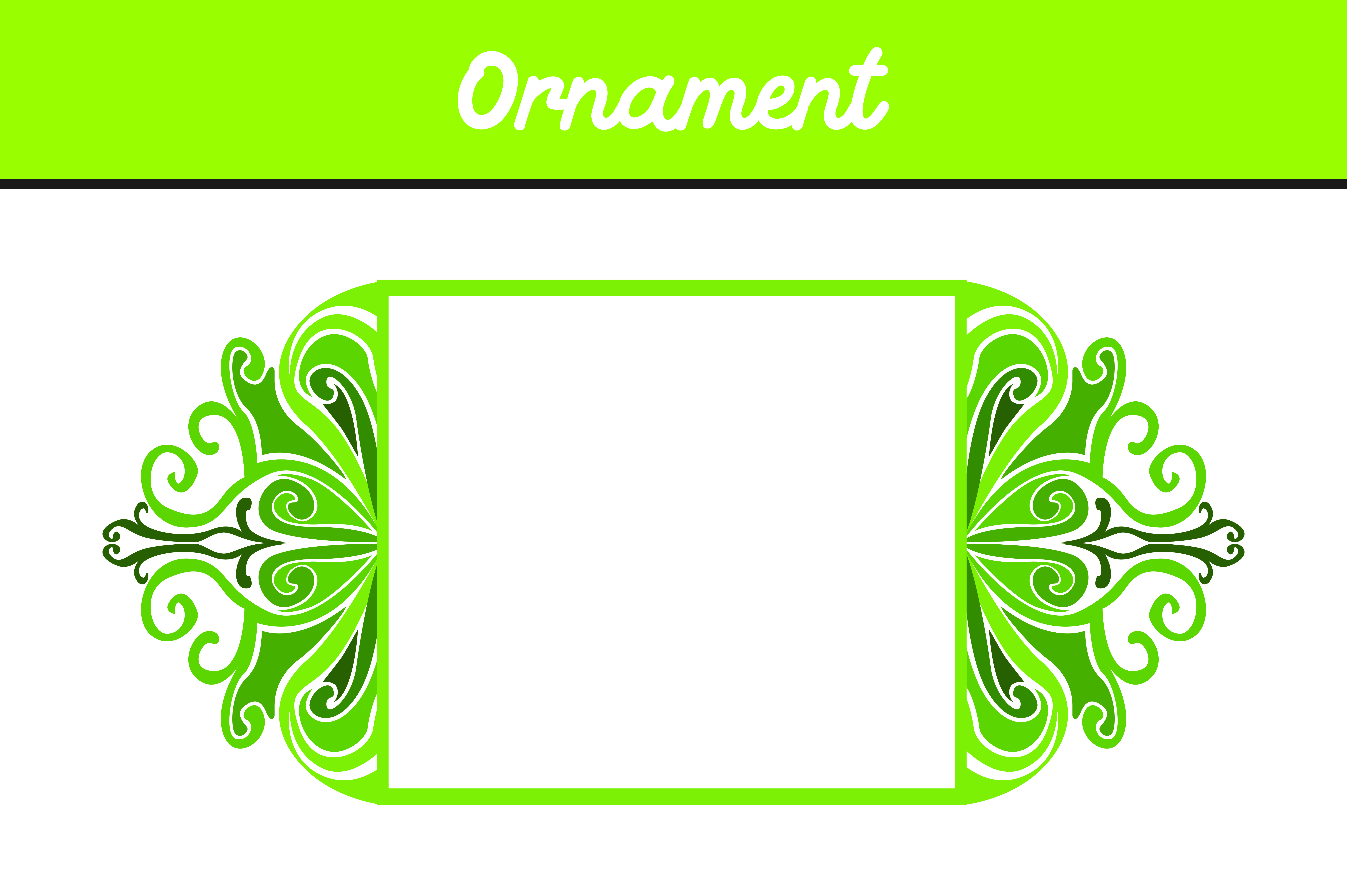Download Free Green Border Frame Ornament Vector Graphic By Arief Sapta Adjie for Cricut Explore, Silhouette and other cutting machines.