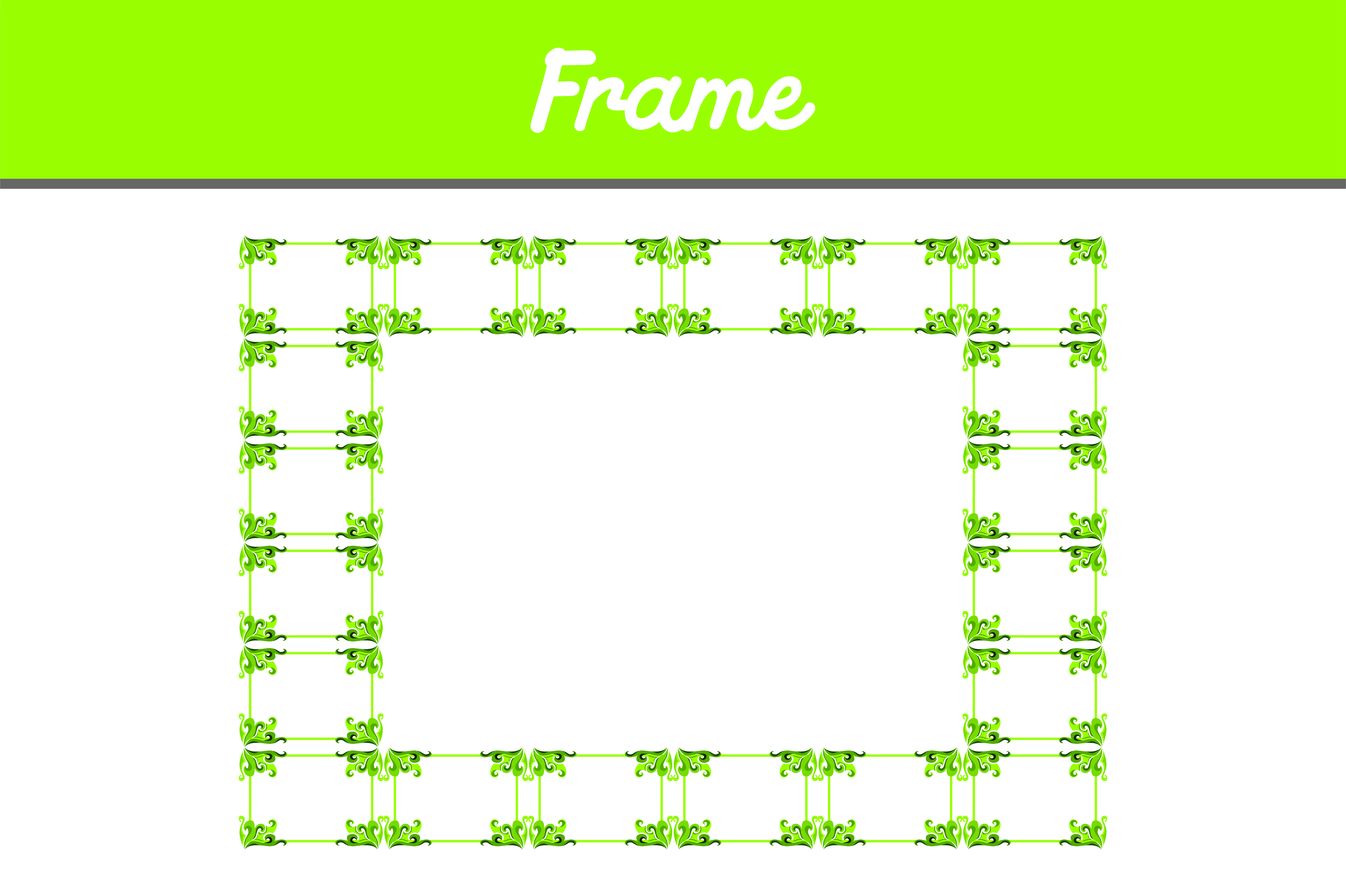 Download Free Green Border Frame Ornament Graphic By Arief Sapta Adjie Ii for Cricut Explore, Silhouette and other cutting machines.