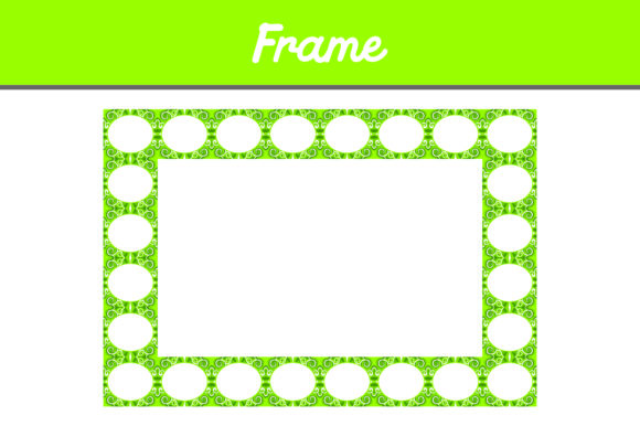 Print on Demand: Green Border Frame Ornament Graphic Patterns By Arief Sapta Adjie II