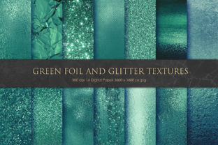 Green Foil and Glitter Textures Graphic By artisssticcc