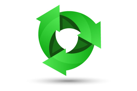 Download Free Green Recycling Logo Graphic By Hartgraphic Creative Fabrica for Cricut Explore, Silhouette and other cutting machines.