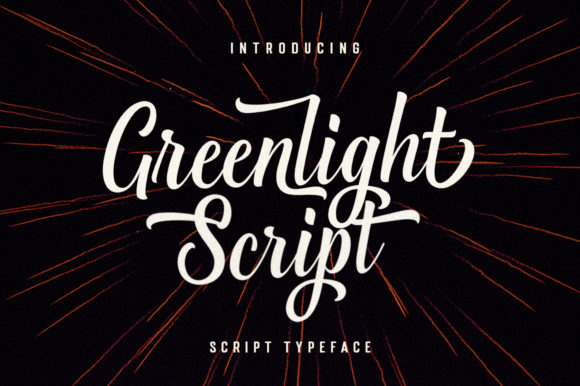 Print on Demand: Greenlight Script Script & Handwritten Font By Great Studio