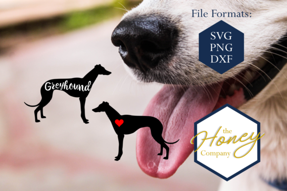 Greyhound SVG Graphic Crafts By The Honey Company