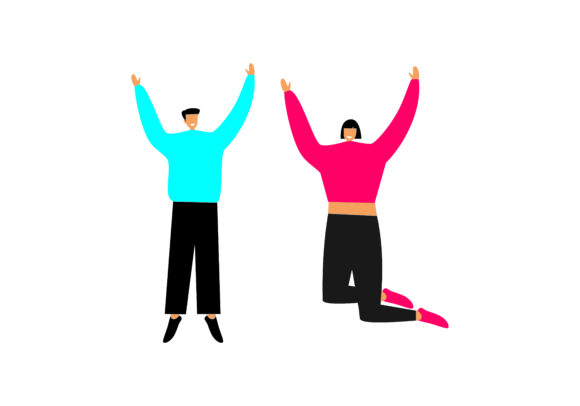 Download Free Group Of Young Happy Dancing People Or Male And Female Dancers for Cricut Explore, Silhouette and other cutting machines.