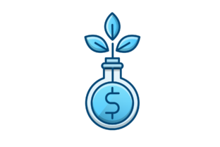 Download Free Growth Funds Icon Graphic By Back1design1 Creative Fabrica for Cricut Explore, Silhouette and other cutting machines.