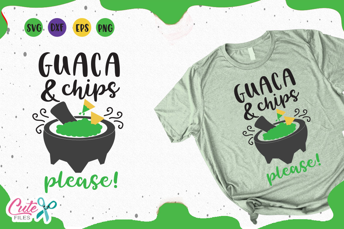 Download Free Guaca And Chips Svg Graphic By Cute Files Creative Fabrica for Cricut Explore, Silhouette and other cutting machines.