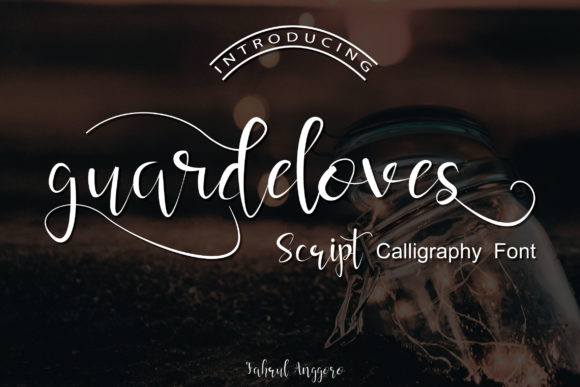 Print on Demand: Guardeloves Script Script & Handwritten Font By Fahrul Anggoro