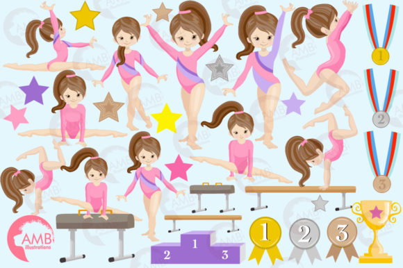 Gymnastic Girls Graphic Illustrations By AMBillustrations - Image 4