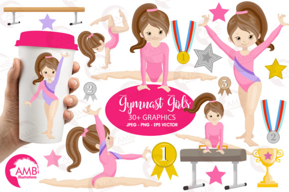 Gymnastic Girls Graphic Illustrations By AMBillustrations - Image 1