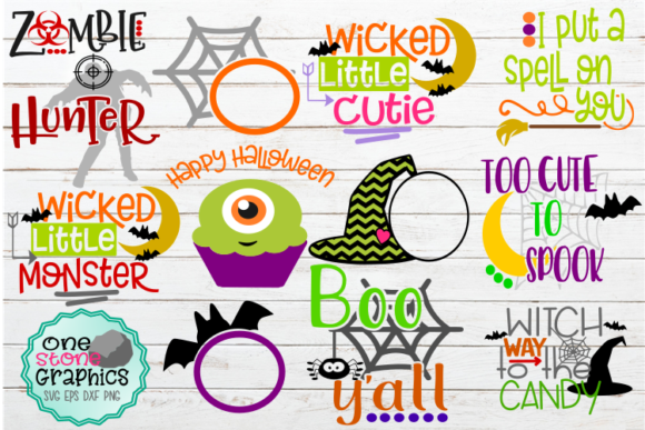 Wickedly Whimsical Halloween Kids Bundle Graphic Crafts By OneStoneGraphics