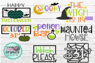 Spooky Halloween Sign Bundle Potion Bar Graphic By OneStoneGraphics