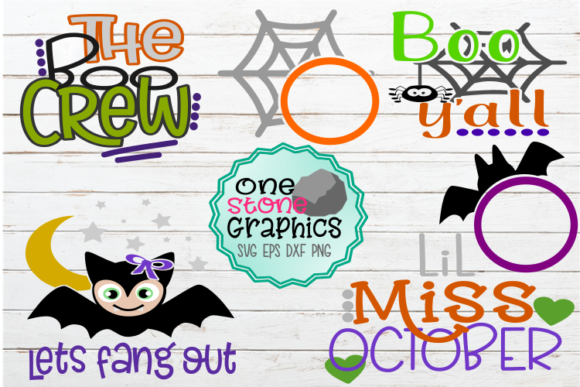 Halloween Boo Crew Sign Bundle Graphic Crafts By OneStoneGraphics