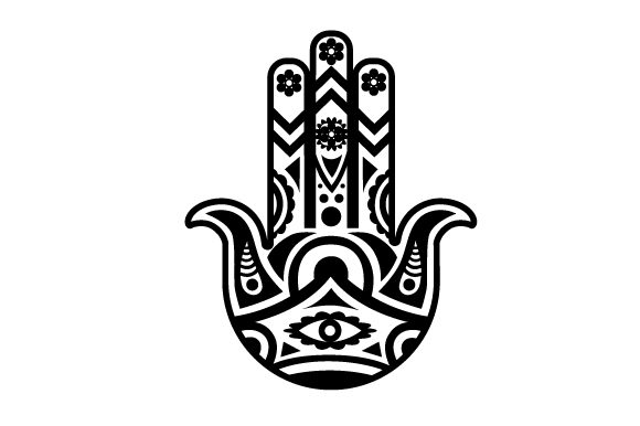 Hamsa Design Black and White Craft Design By Creative Fabrica Crafts Image 1