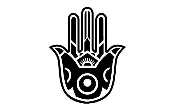 Hamsa With The Evil Eye Svg Cut File By Creative Fabrica Crafts