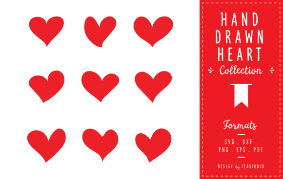 Hand Drawn Heart Collection Graphic Icons By izacuite