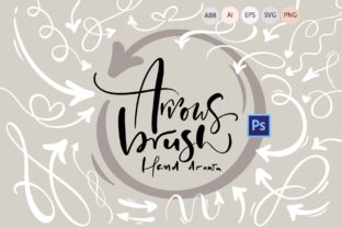 Hand Drawn Arrows Brush Graphic By Happy Letters