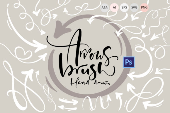 Hand Drawn Arrows Brush Graphic Brushes By Happy Letters