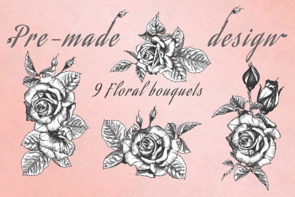 Download Free Hand Drawn Sketch Roses Graphic By Z Zajka Creative Fabrica SVG Cut Files