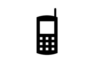 Download Free Handphone Phone Monochrome Icon Vector Graphic By Hoeda80 Creative Fabrica for Cricut Explore, Silhouette and other cutting machines.