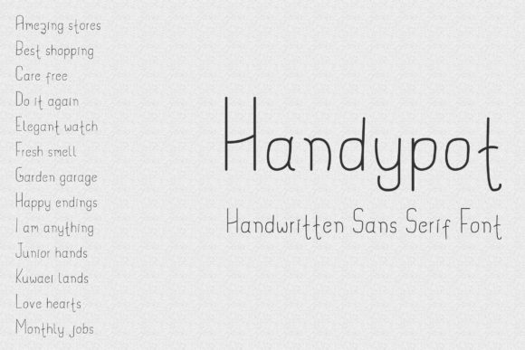 Print on Demand: Handypot Script & Handwritten Font By Dasagani