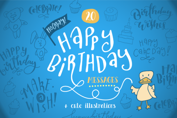 Download Free Happy Birthday Messages Card Templates Graphic By The Pen And for Cricut Explore, Silhouette and other cutting machines.