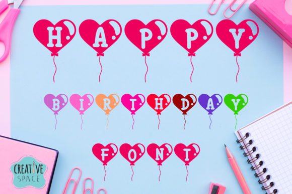 Print on Demand: Happy Birthday Decorative Font By creativespace