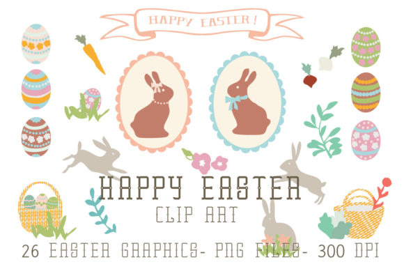 Happy Easter Clip Art Graphic Illustrations By Hello Talii