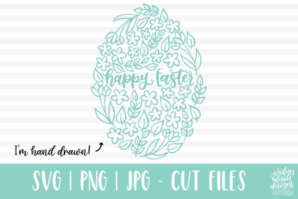 Download Free Happy Easter Floral Egg Svg Graphic By Jordynalisondesigns SVG Cut Files