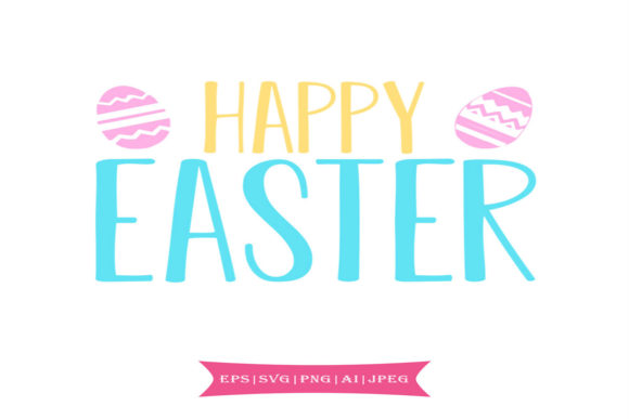 Print on Demand: Happy Easter Svg Graphic Crafts By summersSVG