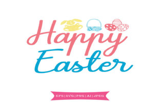 Happy Easter Svg Graphic By summersSVG