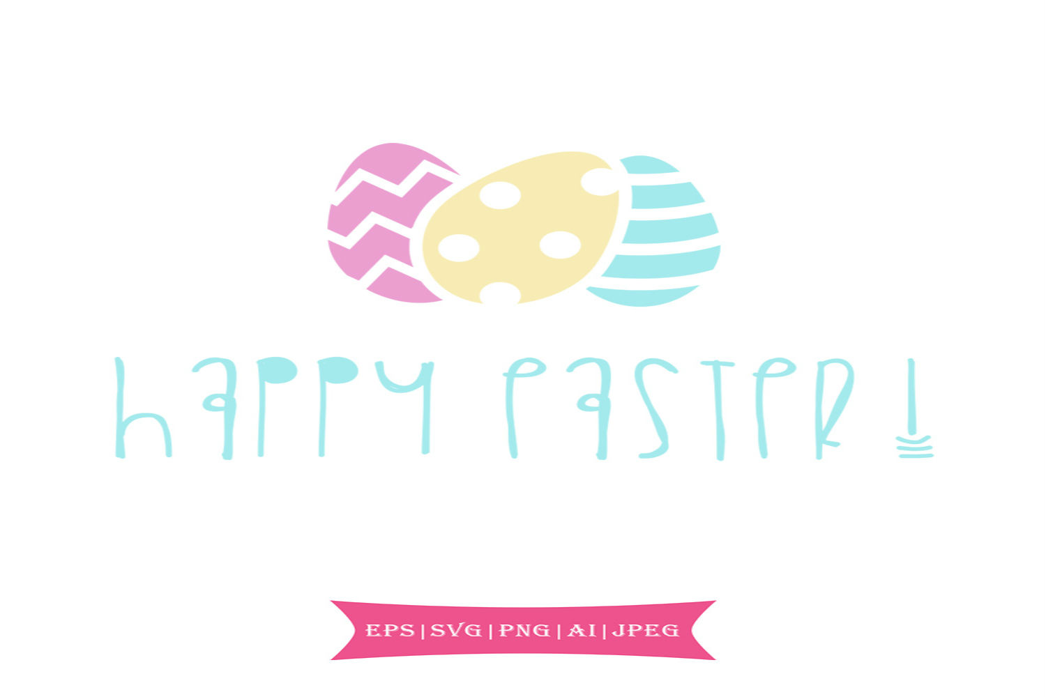 Download Free Happy Easter Graphic By Summerssvg Creative Fabrica for Cricut Explore, Silhouette and other cutting machines.