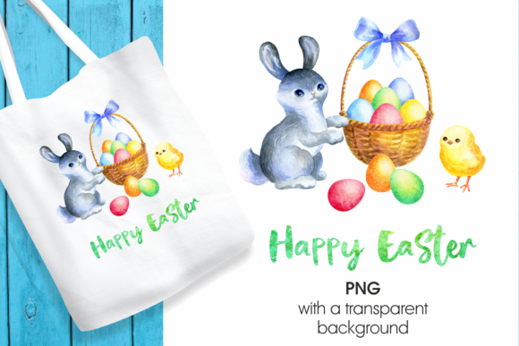 Print on Demand: Happy Easter Graphic Illustrations By Olga Belova - Image 1