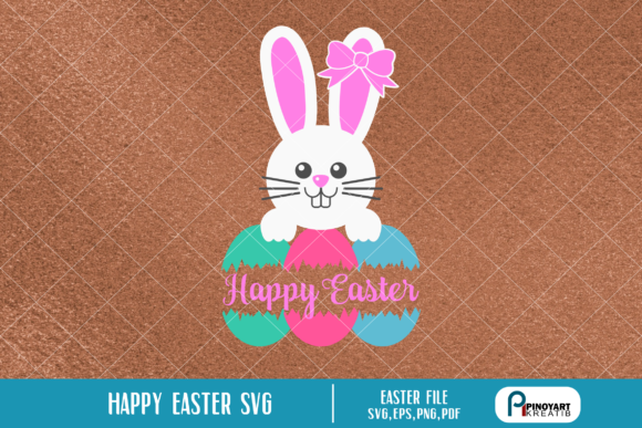 Download Free Happy Easter Graphic By Pinoyartkreatib Creative Fabrica for Cricut Explore, Silhouette and other cutting machines.
