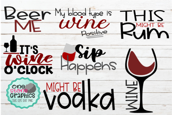 Happy Hour SVG Bundle Graphic Crafts By OneStoneGraphics