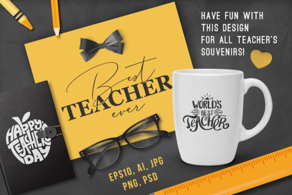 Happy Teachers Day Quotes Graphic Crafts By Peliken