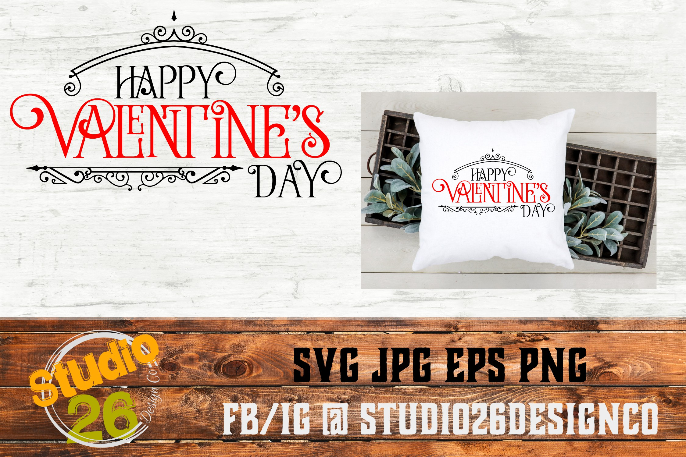 Download Free Happy Valentine S Day Svg Graphic By Studio 26 Design Co for Cricut Explore, Silhouette and other cutting machines.