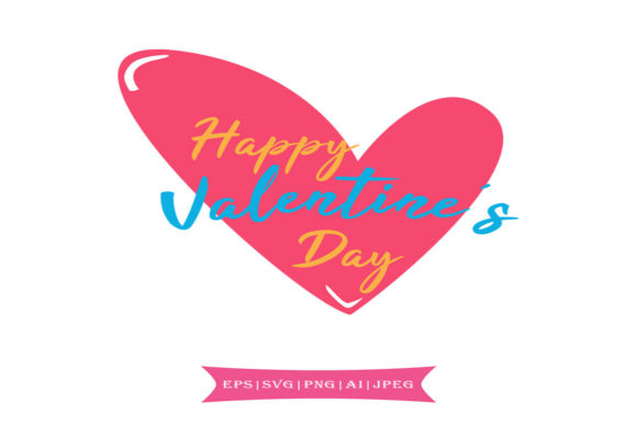 Print on Demand: Happy Valentine's Day Graphic Crafts By summersSVG