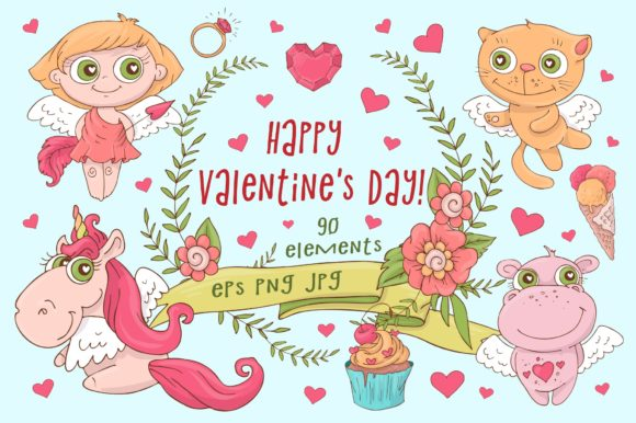 Print on Demand: Happy Valentine's Day! Graphic Illustrations By nicjulia - Image 1