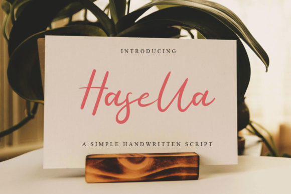 Print on Demand: Hasella Script Script & Handwritten Font By Haksen