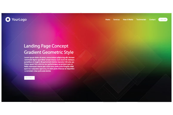 Header Website of Landing Page Graphic Web Elements By MrBrahmana - Image 1