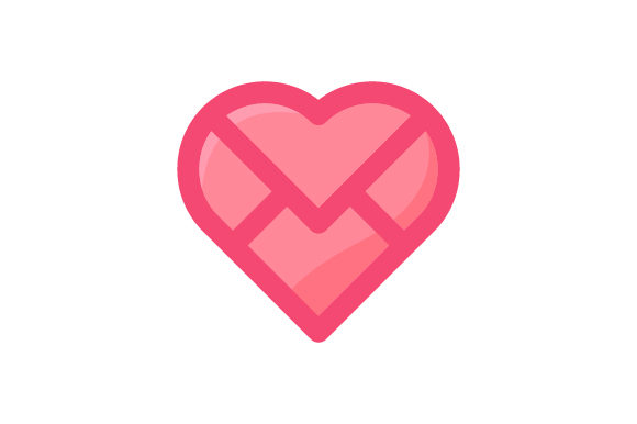 Download Free Heart Envelope Icon Graphic By Izacuite Creative Fabrica for Cricut Explore, Silhouette and other cutting machines.