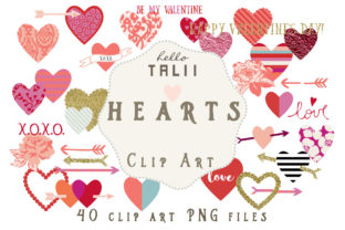 Hearts Clip Art Graphic Illustrations By Hello Talii