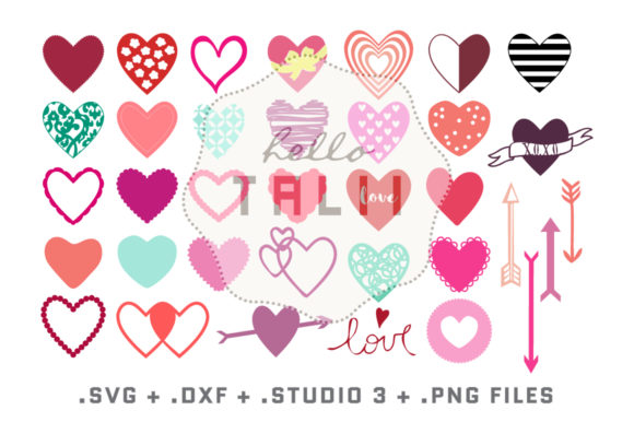 Hearts Bundle Graphic Crafts By Hello Talii - Image 2