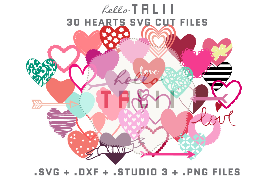 Download Free Hearts Bundle Graphic By Hello Talii Creative Fabrica for Cricut Explore, Silhouette and other cutting machines.