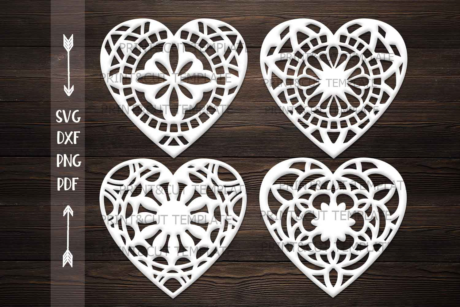 Download Free Hearts Bundle Graphic By Cornelia Creative Fabrica for Cricut Explore, Silhouette and other cutting machines.