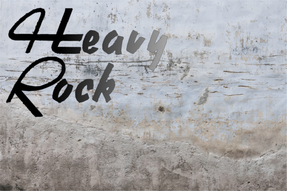Print on Demand: Heavy Rock Display Font By Intellecta Design - Image 1
