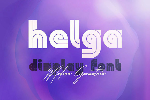 Helga Display Font By JumboDesign
