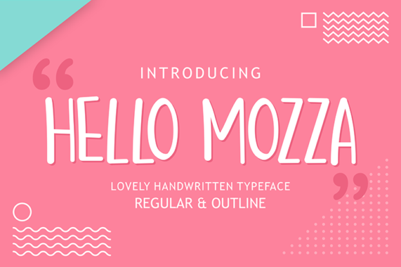 Print on Demand: Hello Mozza Script & Handwritten Font By figuree studio